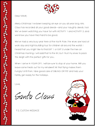 santa letters a letter from santa template template