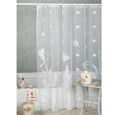 Hooks For Curtains Curtain White Shower Curtain With Black Border Contemporary