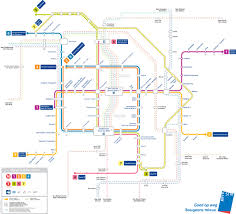 Metro Line Map by Official Map Brussels Metro Tram And Rail Transit Maps