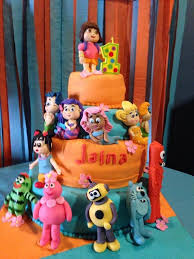 yo gabba gabba birthday cake3d cards our s 1st bday cake we went with a nick jr theme and had