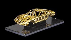 gold lamborghini 24 carat gold lamborghini miura sculpture revealed
