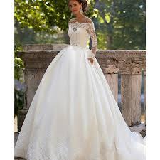lace long sleeve bridal gowns vosoi com