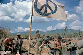 Marines Holding Flag Vietnam War Escalation And Withdrawal 1968 1975