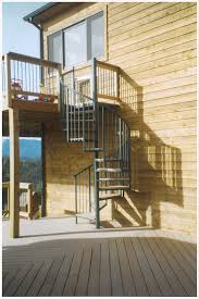 interior beautiful dark brown iron outdoor spiral staircase along