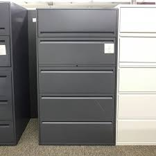 5 Drawer Lateral File Cabinets Used Haworth 5 Drawer 36 Lateral File Cabinet Gray Fil1496 005