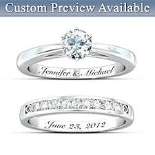 bridal ring set personalized womens diamond bridal ring set our forever