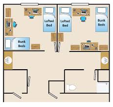 dormitory floor plans about village at alpine valley residence life and housing