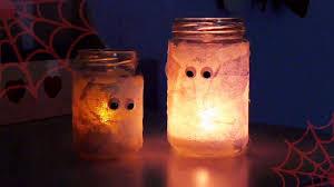halloween candle jars diy halloween candela mummia youtube