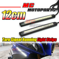 front fairing turn signal 120mm led strip lights for universal