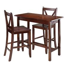 winsome trading lynnwood 3 piece counter height dining table set