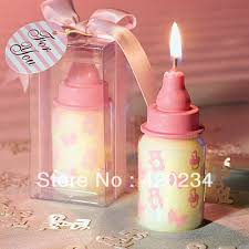 baby bottle centerpieces blue baby bottle candle favors baby shower wedding favors party