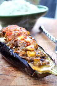 cuisiner l aubergine aubergines farcies à la viande hachée recettes by hanane