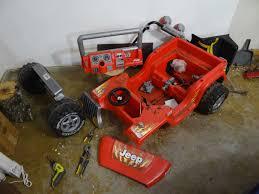 power wheels jeep 90s red wrangler to willys cj2a re body modifiedpowerwheels com