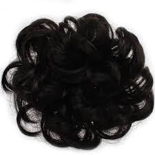hair scrunchy black 1pc 100 percent human hair scrunchy scrunchie bun up do hair