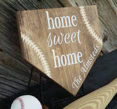 Baseball Home Decor Home Sweet Home Baseball Plate Personalized Home Plate