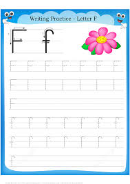 letter f is for flower handwriting practice worksheet free