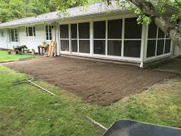 Backyard Sand Diy Flagstone Patio Planning And Installation Merrypad