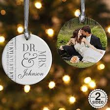 bride u0026 groom personalized ornament wedding christmas ornaments