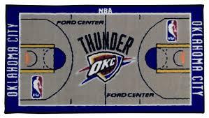 Contemporary Rugs Runners Nba Oklahoma City Thunder Rug Basketball Runner Carpet