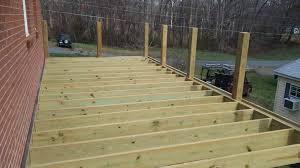 wraparound deck wood deck u0026 covered porch winston salem nc winston salem