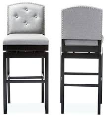 stools dove gray leather swivel counter stools light gray