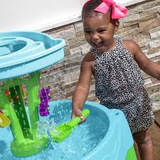 step 2 rain showers water table spring time splash water table kids sand water play step2