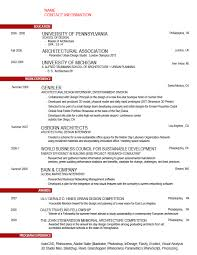 brilliant ideas of architecture intern resume sample with format