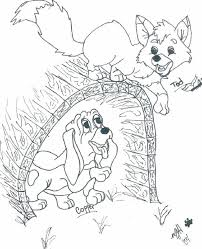the fox and the hound coloring pages funycoloring