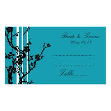 collections of wedding place setting card business cards
