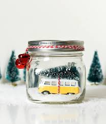 christmas jeep decorations car in jar snow globe red jeep wrangler in mason jar snow