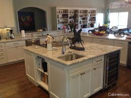 kitchen kitchen island cabinets white granite countertop