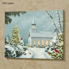 Christmas Wall Pictures by Christmas Church Led Lighted Canvas Wall Art