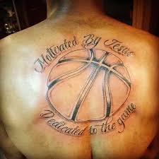 simple and amazing basketball tattoo for men tattooshunter com