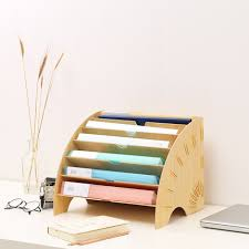 File Desk Organizer Home Office Desktop File Holder Diy Office Desk Organizer Storage