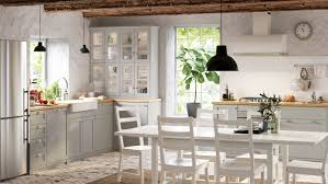 light grey kitchen with oak cabinets lerhyttan light grey kitchen grey shaker kitchen ikea