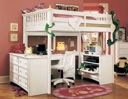 girls loft bed with a desk and vanity ideas for bedroom chelsea vanity loft bed glamorous bedroom design