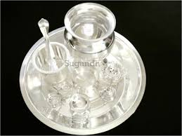 silver plated puja items buy silver plated pooja articles