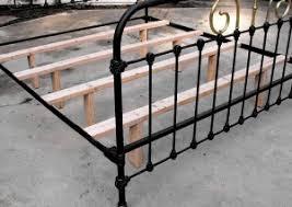 Metal Bed Frame With Wooden Slats Iron Bed Conversion And Support Wooden Slats Reference Tips