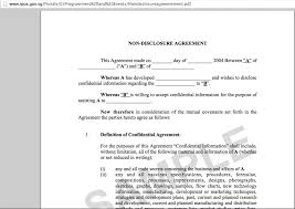 nda document template 28 images 6 non disclosure agreement
