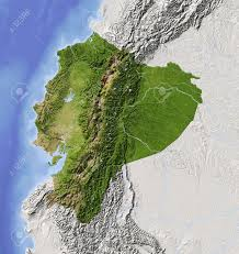Topographical Map Of South America by Physical Map Of Ecuador Ezilon Maps South American Federation