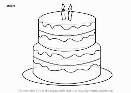 fresh birthday cake coloring page picture best birthday quotes