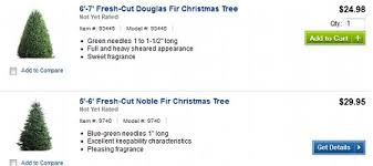 christmas tree prices lowe s and home depot fresh christmas trees as low as 12 50