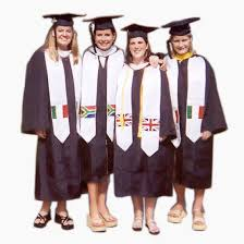 graduation stoles non personalized international and study abroad flag stole