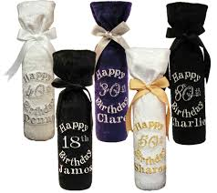 wine bottle gift bags birthday personalised wine bottle gift bag pefect for 18th