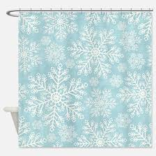 snowflake shower curtains cafepress