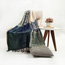 chenille throws for sofas fashion bohemia national trend fleece blanket tassel sofa blanket