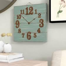 Grande Horloge Murale Carrée En Bois Vintage Achat Horloges Murales Forme Carré Wayfair Ca