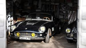 Ferrari California Classic - sixty untouched classic cars discovered in french barn how a car