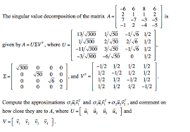 design expert 7 1 6 solved the singular value decomposition of the matrix a
