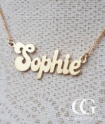 Name Plates Necklaces Solid 9ct Gold Name Plate Necklace Engraved U0026 Personalised